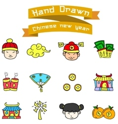 Collection Chinese New Year of icons vector