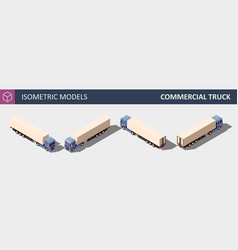 commercial truck isometric in vector image