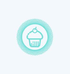 cupcake icon sign symbol vector image