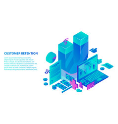 Customer retention service concept background vector