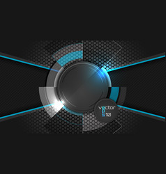 Dark abstract wallpaper with circle pattern and vector image