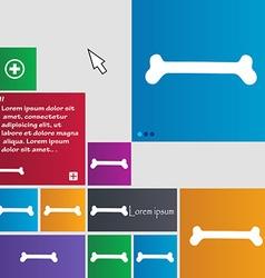Dog bone icon sign buttons Modern interface vector