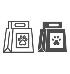 Dog food package line and glyph icon dog food vector