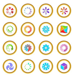 Download status icons circle vector