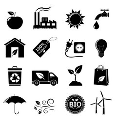 ecology and environment icon set vector image