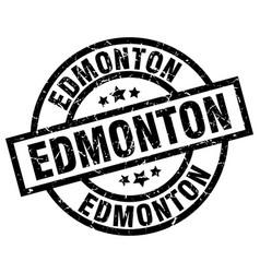 Edmonton black round grunge stamp vector