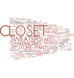 Enjoy your closet text background word cloud vector