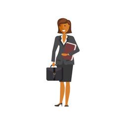 flat design business woman vector image