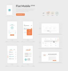 Flat Mobile UI kit vector image vector image