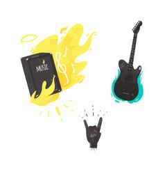 flat music symbol guitar amplifier rock vector image