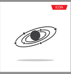 galaxy icon isolated on white background vector image