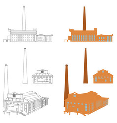 Gasometer plant porto alegre city vector