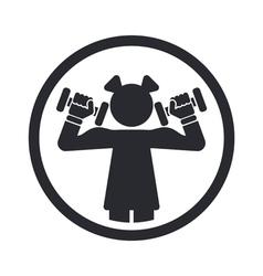 girl gym icon vector image