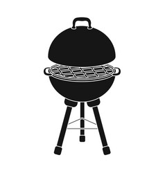grill for barbecuebbq single icon in black style vector image