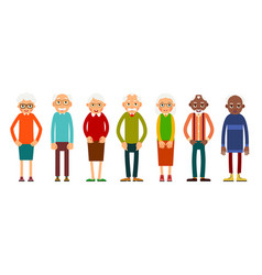 group older people vector image
