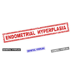 Grunge endometrial hyperplasia textured rectangle vector