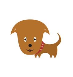 happy dog cartoon cartoon personage on white vector image