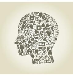 Head medicine vector image