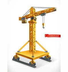 jib type crane 3d icon vector image