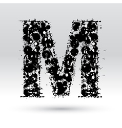 Letter m formed by inkblots vector