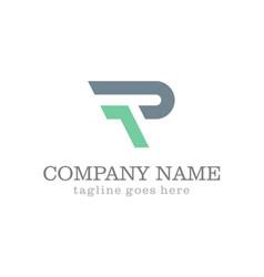 Letter r shape company logo vector