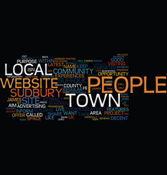 Local community websites text background word vector