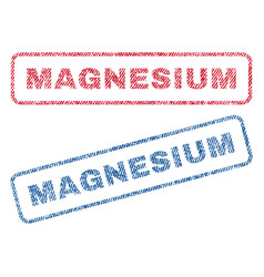 Magnesium textile stamps vector