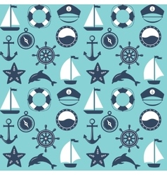 Marine symbol Nautical design elements vector image
