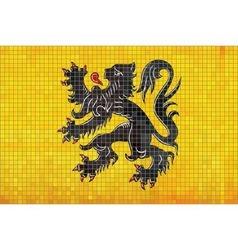 Mosaic Flag of Flanders vector