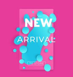 New arrival banner for social media vector