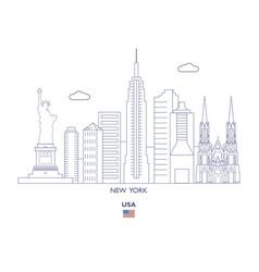 new york city skyline vector image