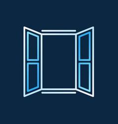 opened window colored line icon creative vector image