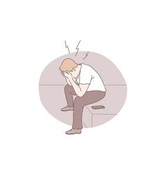 Panic attack emotional stress depression concept vector