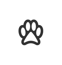 paw clip art design isolated vector image