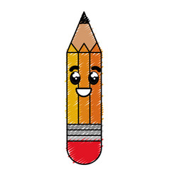 Pencil write kawaii character vector