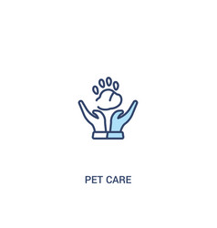 Pet care concept 2 colored icon simple line vector