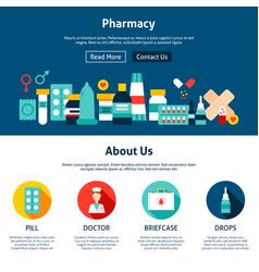 Pharmacy website design vector