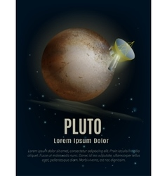 Pluto Planet Poster vector image