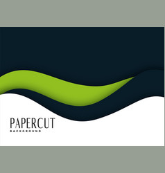 Presentation background in papercut style vector
