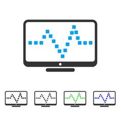 Pulse monitoring flat icon vector