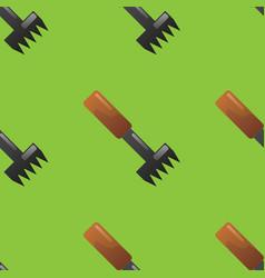 rake seamless pattern vector image