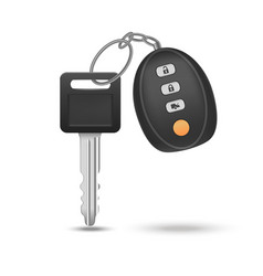 Realistic detailed auto car key with remote vector