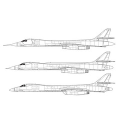Rockwell b-1 lancer vector