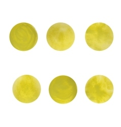 Round yellow spots The texture of acrylic vector