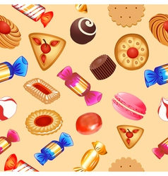Seamless background with candies vector