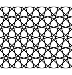 seamless geometric ornament composed of twelve vector image