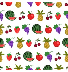 seamless pattern of fruit background vector image