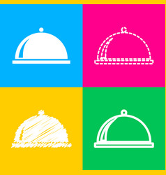 Server sign four styles of icon on vector