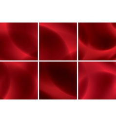 set of abstract red neon backgrounds vector image vector image