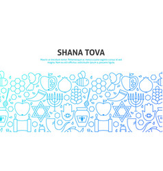 shana tova concept vector image
